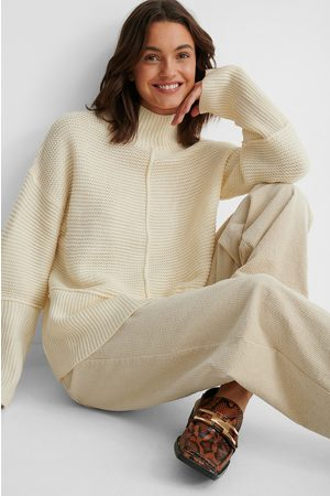 NA-KD Pull En Tricot À Col Montant - Offwhite