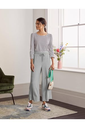 Boden Wide Leg Cropped Joggers GRY Femme Boden