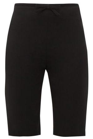 Miu Miu Shorts - Cycliste en cady à ornement naud