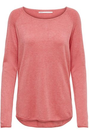 Only Long Pull En Maille Women Pink