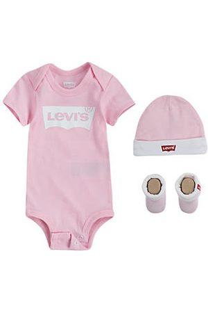 Levi's Classic Batwing Infant 3pc Set Neutral / Fairy Tale