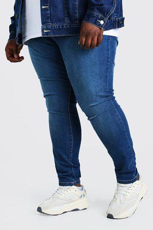 Boohoo Plus Size Super Skinny Knee Slit Jean Homme