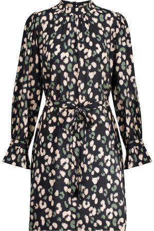Velvet Robe Gertrude à motif léopard