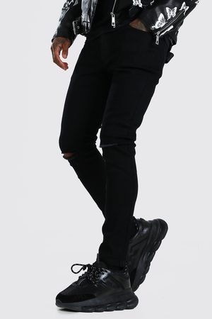 Boohoo Skinny Jeans With Slash Knee Homme