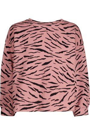 Velvet Sweat-shirt Hilda en coton à motif zébré
