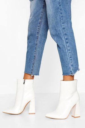 Boohoo Wide Fit Flared Heel Sock Boots