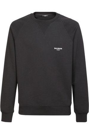 Balmain Sweat-shirt En Coton Biologique Logo Floqué