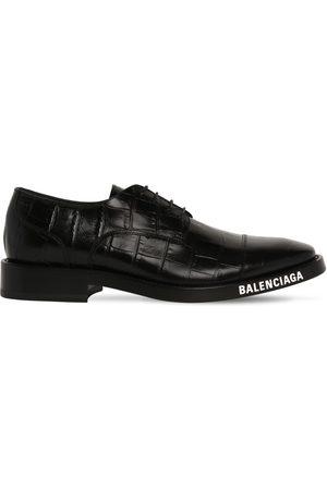 Balenciaga Homme Chaussures à lacets - Chaussures Derby À Lacets En Cuir Estampé Croco