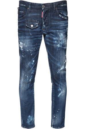 Dsquared2 Homme Jeans - Jean Skater En Denim De Coton 16 Cm
