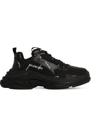 "Balenciaga Sneakers En Mesh Et Simili Cuir ""triple S"""