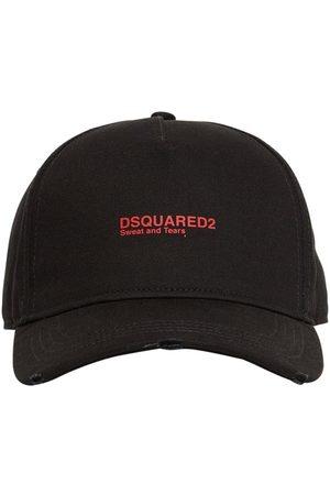Dsquared2 Casquette En Gabardine De Coton Avec Logo Brodé