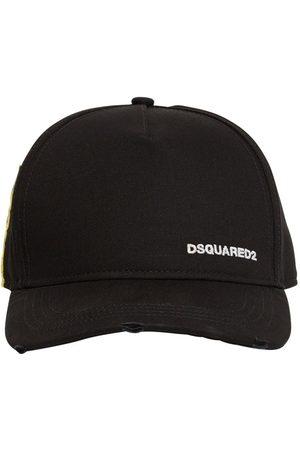 Dsquared2 Casquette En Gabardine De Coton Détail Étiquette