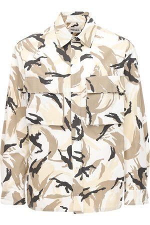 Kenzo Chemise En Ripstop De Coton Imprimé Camouflage