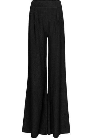 GALVAN Pantalon ample Piazza à taille haute