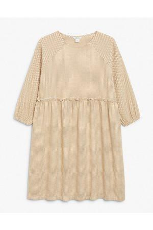 Monki Femme Robes imprimées - Sol - Robe babydoll courte à carreaux