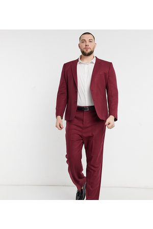 ASOS Plus - Pantalon de costume large en sergé
