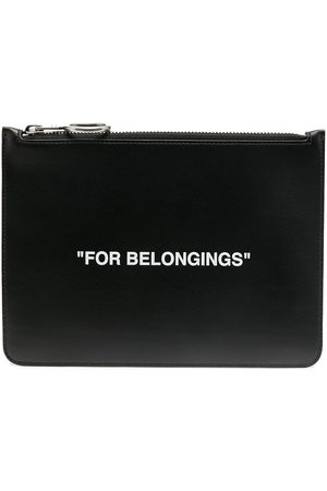 OFF-WHITE Quote-print clutch bag