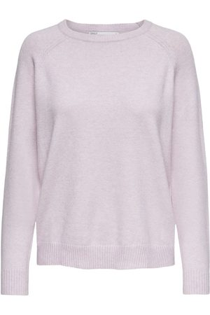 Only Couleur Unie Pull En Maille Women Pink