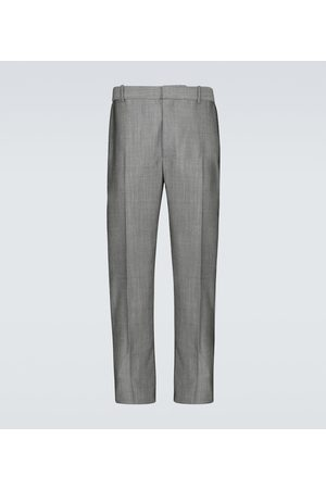 Alexander McQueen Pantalon en laine et mohair