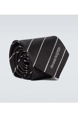 Alexander McQueen Cravate rayée en soie