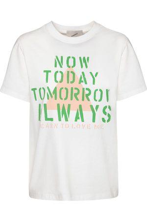 COPERNI T-shirt Oversize En Coton Imprimé Now Today