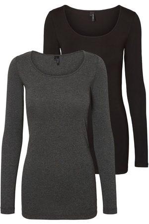 Vero Moda Lot De 2 Tshirt À Manches Longues Women grey
