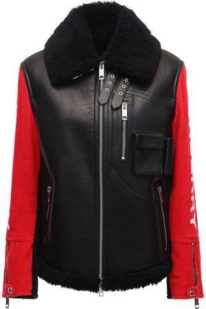Burberry Femme Vestes en cuir - Bicolor Leather Biker Jacket