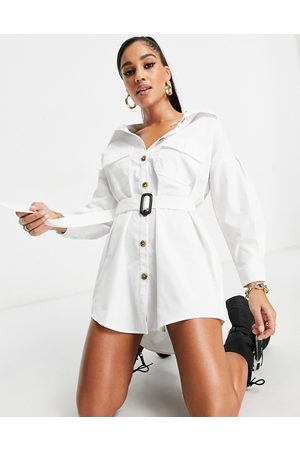 I saw it first Robe chemise oversize à ceinture