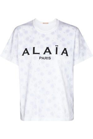 Alaïa T-shirt à logo en coton