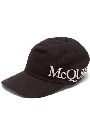 Alexander McQueen Casquette en toile de coton à logo brodé