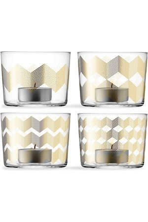 LSA International Chevron' tealight holder, set of four