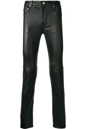 Saint Laurent Pantalon skinny en peau d'agneau