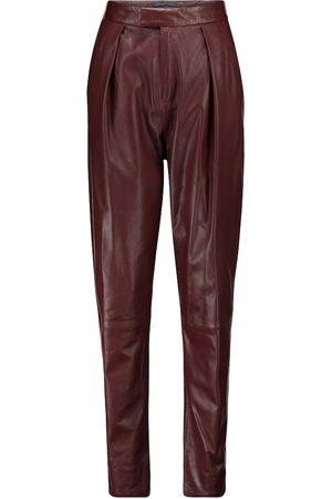 Zeynep Arcay Pantalon à taille haute en cuir