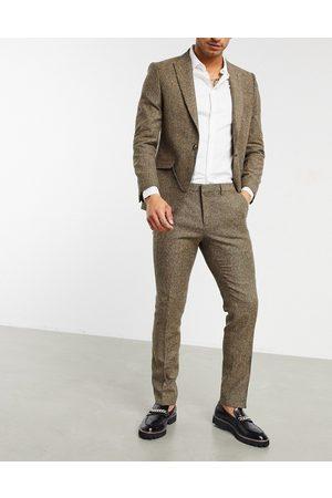 Shelby & Sons Pantalon de costume coupe slim en sergé
