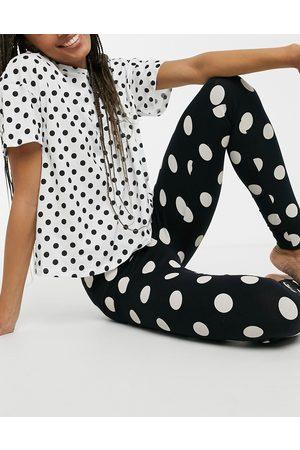 Lindex Josie - Ensemble t-shirt et legging en coton biologique à pois