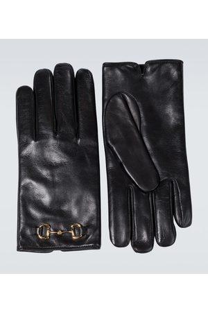 Gucci Gants Horsebit en cuir