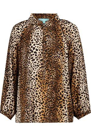 Melissa Odabash Blouse Lauri à motif léopard