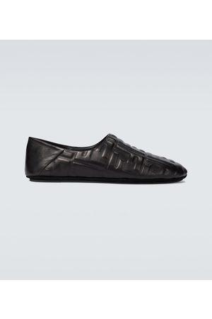 Fendi Slippers en cuir FF