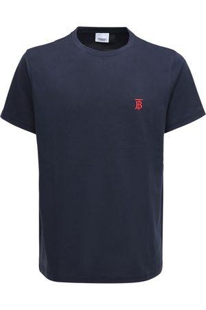 Burberry T-shirt En Jersey De Coton Brodé
