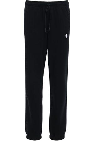 MARCELO BURLON Pantalon De Survêtement En Jersey Logo Croix Brodé