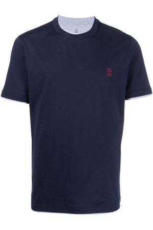 Brunello Cucinelli T-shirt à logo brodé