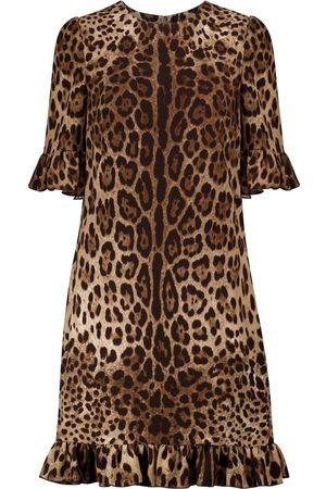 Dolce & Gabbana Robe à motif léopard