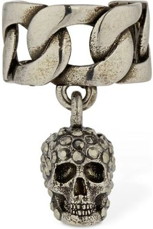 Alexander McQueen Bijou D'oreille Crâne En Cristaux