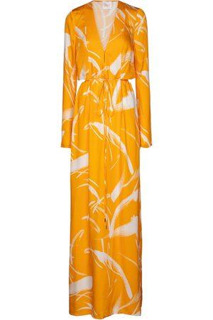 GALVAN Robe longue Lido imprimée
