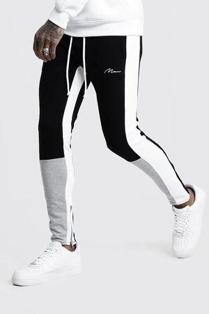 Boohoo Jogging coupe skinny colorblock MAN Homme