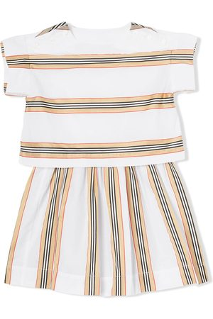 Burberry Icon Stripe two-piece top and skirt set