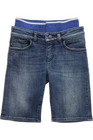 Emporio Armani Shorts - Short En De Coton Stretch