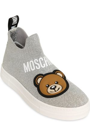 Moschino Baskets Style Chaussettes En Maille