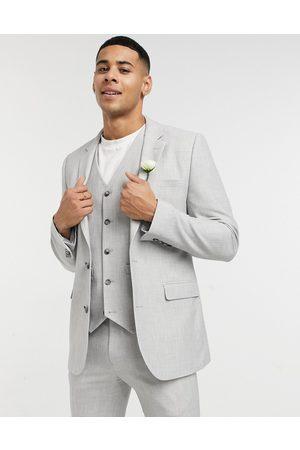 ASOS Mariage - Veste de costume ultra ajustée micro-texturée