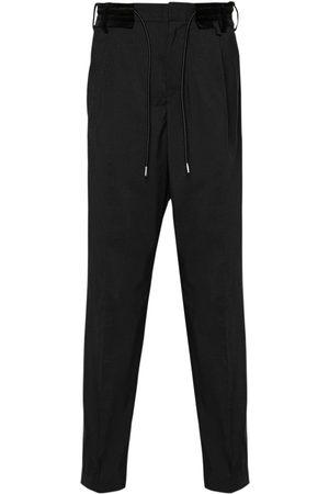 SACAI Pantalon De Costume En Laine Et Tissu Technique